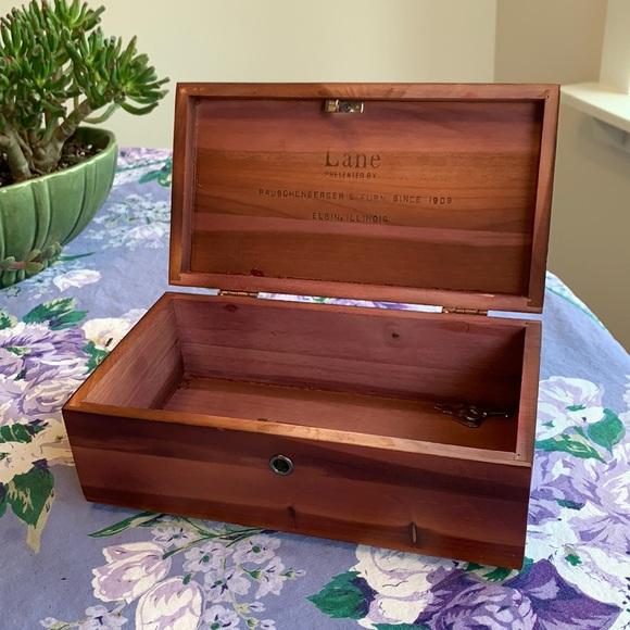 Vintage Aromatic Cedar Box / Tabletop Chest
